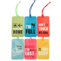 Flight 101- Set of 6 luggage tags