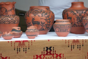 Santa Fe pottery- Indian Market