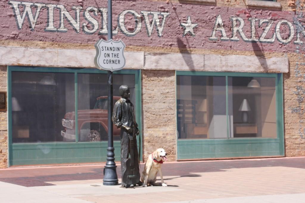Fae, Standing on the corner in Winslow, AZ