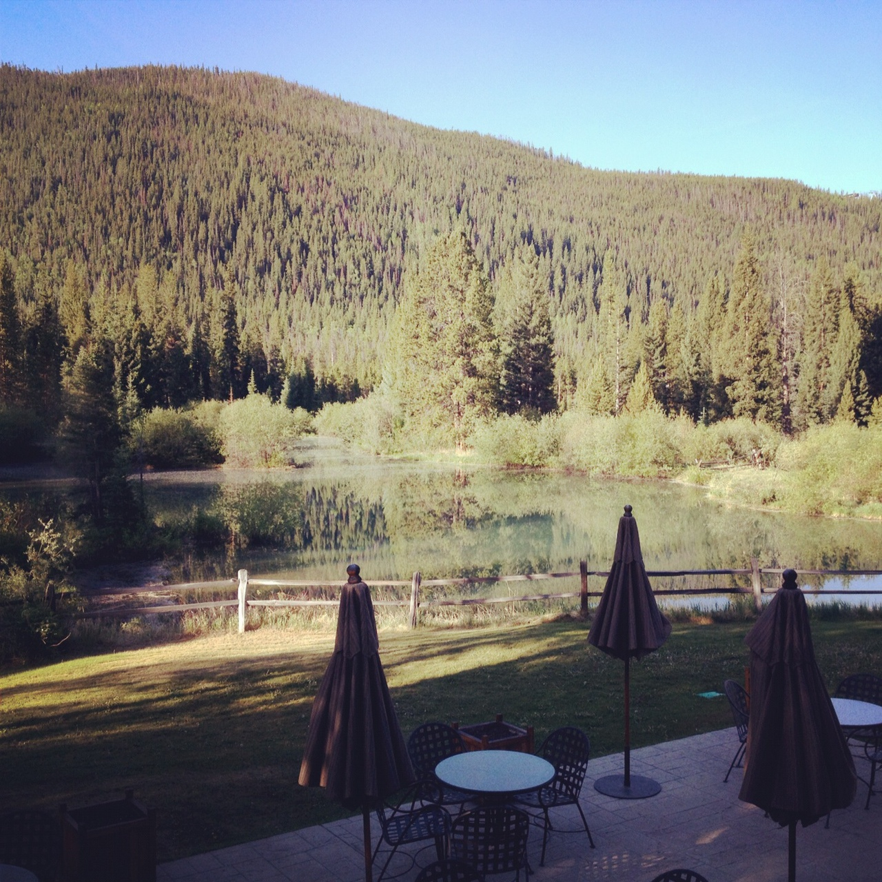 Ski Tip Lodge, Keystone, CO- Patio/Pond
