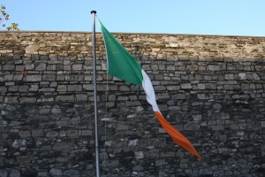 Irish flag at Kilmainham Jail