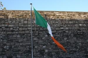 Irish flag at Kilmainham Jail