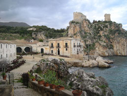 Tonarra di Scopello, Italy. A rustic mediterranean beach vacation destination